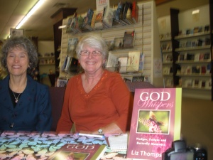 Praises Book Signing 2013 with Kathy Welty, a contributor to my book. Sadly, the bookstore is no more.