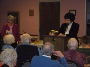 Carol Rorick, friend and neighbor, giving my introduction.