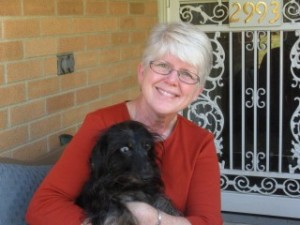 Liz with her hearing dog, Toby